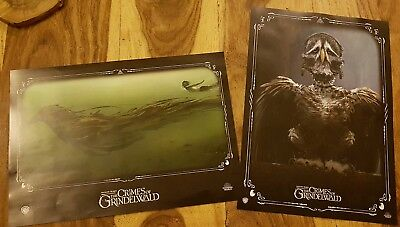 Fantastic Beasts The Crimes of Grindelwald original Odeon A4 posters x 2