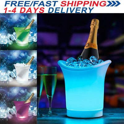 LED Ice Bucket Colour Changing Champagne Wine Beer Drink Cooler Party Xmas Decor