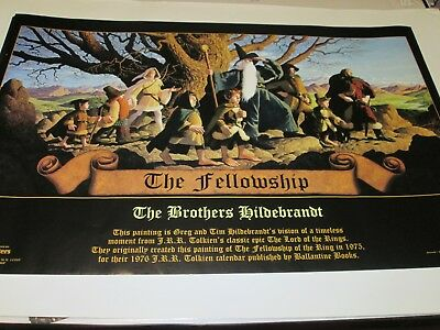 Poster Hildebrandt Tolkien Lord Of The Rings The Fellowship 55 X 85