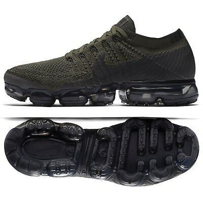 Nike Air VaporMax Flyknit 849558-300 Khaki Olive Black Men Running Shoes Sz 79c69eeaeef2