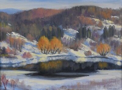 Betty Roodish Goodwin CPE 1923-2008 Oil Painting Laurentian Landscape Canadian