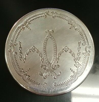 Victorian Trading Co Stamped Edwardian Mirror & Fill-able Compact