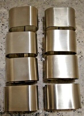 Pewter Napkin Rings By Woodbury Pewterers 8 Perfect Condition