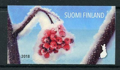 Finland 2018 MNH Snowy Berries 1v S/A Set Trees Plants Nature Stamps