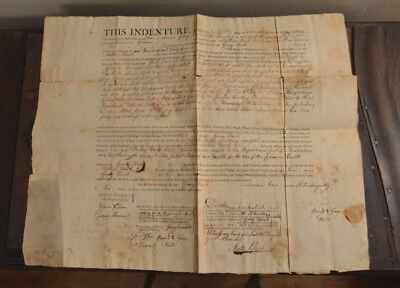 1796 INDENTURE Township of Upper Pascton County of Dauphn Pennsylvania Yeoman