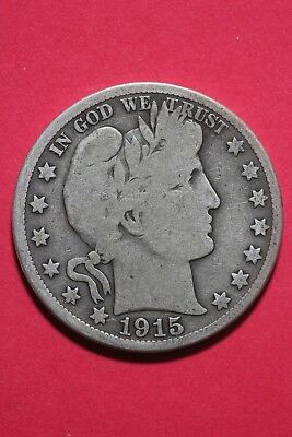 1915 S Barber Liberty Half Dollar Exact Coin Pictured Flat Rate Shipping OCE348