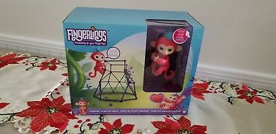 Pink Authentic Wowwee Aimee With Jungle Gym Playset Fingerlings
