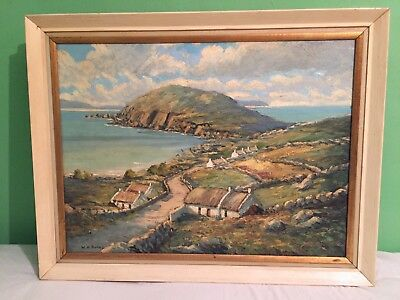 Irish Art, Dunmore Head, Dingle, Co. Kerry, Oil painting by W. H. Burns