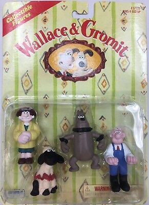 1989 Irwin Toys Wallace & Gromit A Close Shave Sheep Sealed Figurines NEW