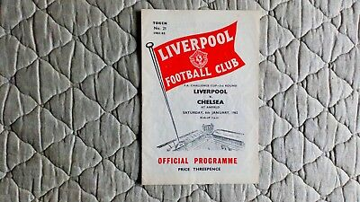 Liverpool V Chelsea Fa Cup 3Rd Round Match Programme 1962