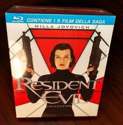 Resident Evil: 5 Movie Collection(Blu-ray)Italian Import(Region B)-NEW-Free S&H