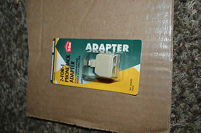 2-for-1 phone jack cord adapter Telephone