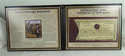 1782 Continental Army Connecticut Line Bond In Fancy Portfolio
