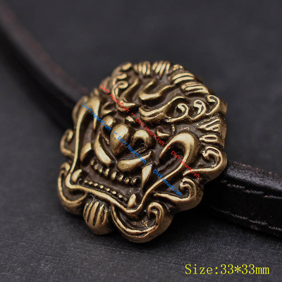 5X 33mm Solid Brass Chinese Dragon Head Conchos Screw Back Leather Craft Decor