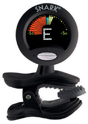 Snark SN-5X Clip-On Chromatic Tuner, f/Guitar,Bass,Violin , Black, Fast & Bright