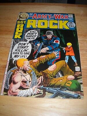 Our Army At War # 239 1971 Dc War Comic  Sgt. Rock Fine Condition 6.0