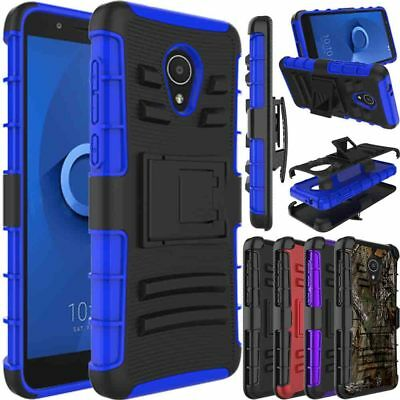 For Alcatel 1X Evolve/Ideal XTRA Phone Case Hybrid Clip Holster Kickstand Cover