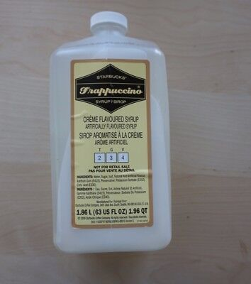 Starbucks Frappuccino Syrup Creme Flavored Syrup 63 Oz. (NEW SEALED)