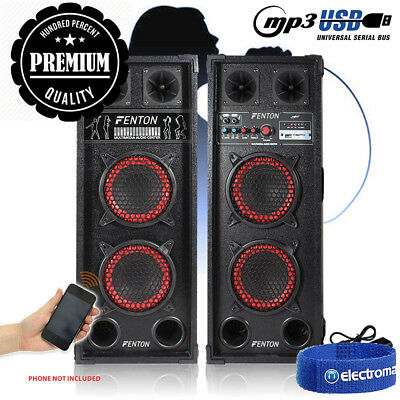 Does not apply Pair Bluetooth Streaming Home Karaoke Disco Speakers USB MP3...