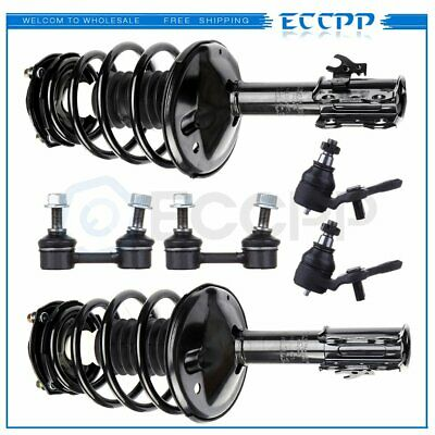 Fit 1995 1996 Toyota Camry 2.2L Front Struts Lower Ball Joint Sway Bar 6pc Kit