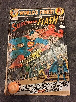 World's Finest Presents Superman and the Flash Comic Book Issue No. 198! (1970)