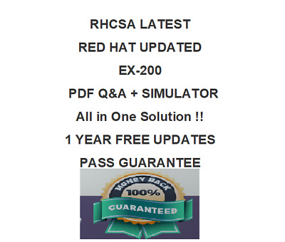 Red Hat RHCSA EX200 Certified System Administrator Exam Q&A PDF VERIFIED (2018)
