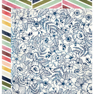 We R Memory Keepers Wildflower Collection 12x12 Scrapbook Paper Road Trip Floral