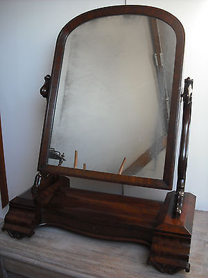 Very Large Early Victorian Mahogany Dressing Table Mirror [not/regency/william]