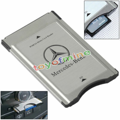 PCMCIA to SD Adapter for Mercedes-Benz Audio System Support SDHC 32GB New