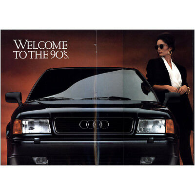 1992 Audi: Welcome to the 90s Vintage Print Ad
