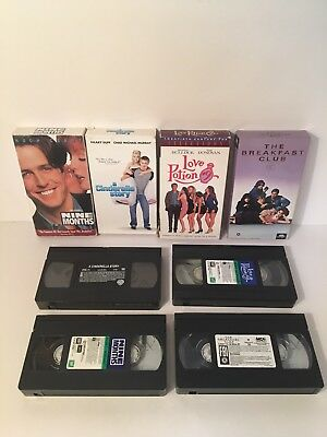 Lot Of 4 VHS Tapes 80's/90's Teen Comedy Sex Love Romance Auction Finds 702