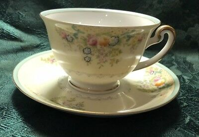 Meito China Pattern MEI344 Japan Hand Painted Cup And Saucer Set (12 Avail)  EUC