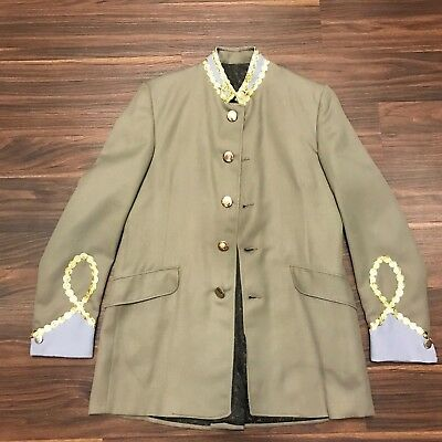 Civil War Reenactment Confederate Union Officer General Costume Jacket Mens 36