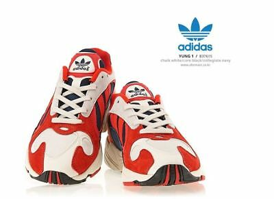 online store 2bc15 bad00 Adidas Yung-1 White-Red Fashion Sneakers,Shoes B37615