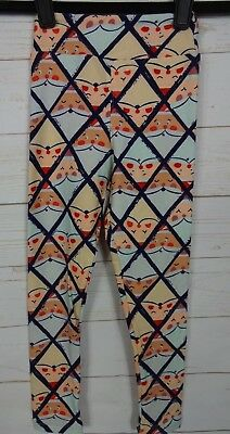 LuLaRoe Kids Christmas Leggings Santa Clause Size S/M NWT - A2593