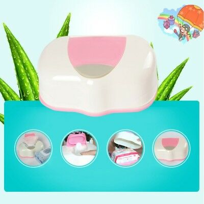 UK Paper Case Care Wipe Napkin Container 80 Sheets Wet Tissue Storage Box Holder