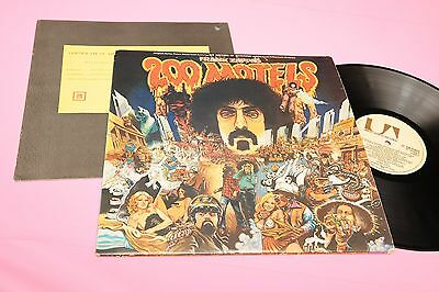 Frank Zappa 2Lp 200 Motels Original 1971 Ex Gatefold Lamianted Cover And Bookle