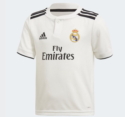 97f9d8704 KIDS 9-10 REAL Madrid Home Shirt 2018-19 - Isco 22 CWC+UCL badges ...