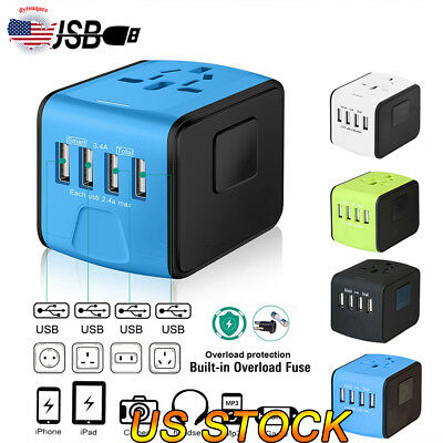 Travel Adapter Perfect Worldwide Travel Charging Solution For Family Outdoor US