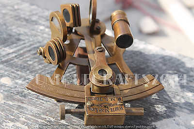 "Vintage Brass Sextant 4"" Maritime navy Astrolabe Replica Collectible Gift Item."