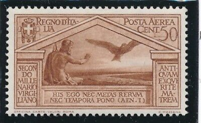 1930 Italia Regno Virgilio Posta Aerea Cent 50  - Re23-8