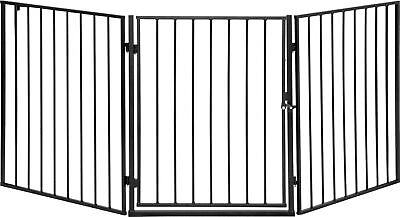 ib style® CATO Fire Guard Safety Barrier Hearth Gate 180cm extendable metal