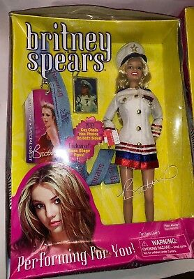 Rare Britney Spears Performing For You Doll Captain Sailors Outfit Doll In Box!