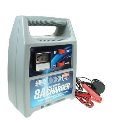 Maypole MP7418 8A Battery Charger 12V Car Van Motorbike Quad up to 1800cc