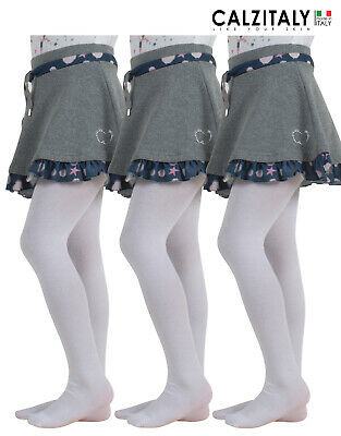 3 Pairs Cotton Girls Tights, Children School Pantyhose, Tights Teen 70 Den