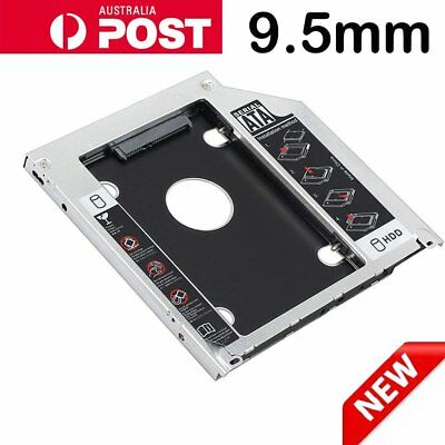 9.5mm SATA 2nd HDD SSD Hard Drive Caddy for CD/DVD-ROM Optical Bay Universal AU