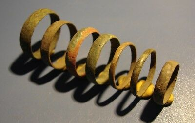 Ancient Wedding Rings. Bronze, Copper. Original.