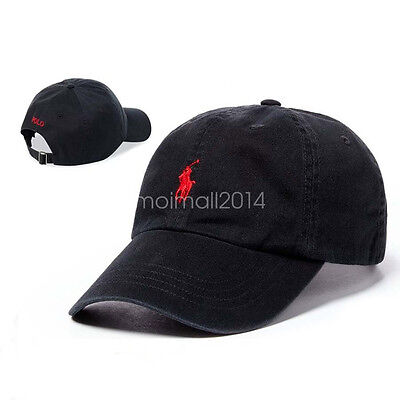 NTW Polo Embroidered Pony Classic Chino Cotton Sport Baseball Cap  Adjustable Hat 0e4b90d22dbb