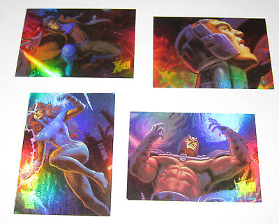 1996 Fleer Ultra X-Men Holoflash Set of 4/9 Cards VERY RARE Magneto Phoenix