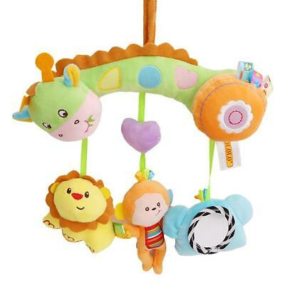 Baby Bell Hanging Stroller Toy Plush Rattles Bed Animal Doll Soft Play Toys CB